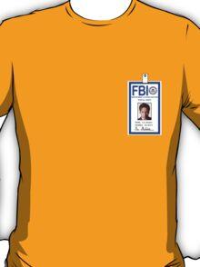 X-Files Fox Mulder ID Badge Shirt T-Shirt