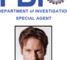 X-Files Fox Mulder ID Badge Shirt Sticker
