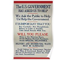The US government has asked us to helpDelivery and distributing waste must be eliminated 002 Poster