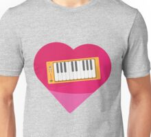 Heart 80's Synth Unisex T-Shirt