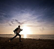 Running From The Man by photogenpix