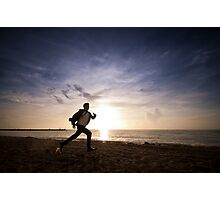 Running From The Man Photographic Print