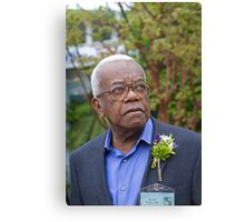 Sir Trevor McDonald OBE at the RHS Chelsea flower show 2012 Canvas Print