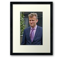 Hugh Dennis at the RHS Chelsea flower show 2012 Framed Print