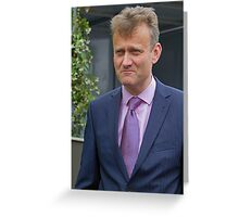 Hugh Dennis at the RHS Chelsea flower show 2012 Greeting Card