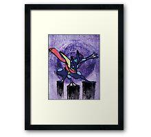 Greninja Framed Print