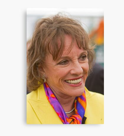 Esther Rantzen at the RHS Chelsea flower show 2012 Canvas Print