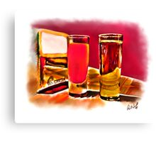 """""""Juice and Tequila"""" Watercolor Canvas Print"""