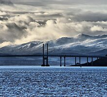Winter Storm Beyond the Bridge by jacqi