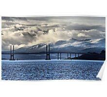 Winter Storm Beyond the Bridge Poster