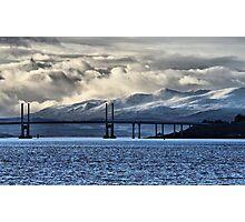 Winter Storm Beyond the Bridge Photographic Print