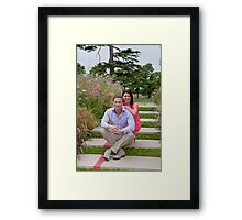 Dr Christian Jessen and Dr Dawn Harper at the RHS Hampton Court Palace flower show 2012. Presenters from the Embarrassing bodies tv programme. Framed Print
