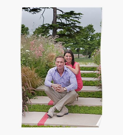 Dr Christian Jessen and Dr Dawn Harper at the RHS Hampton Court Palace flower show 2012. Presenters from the Embarrassing bodies tv programme. Poster