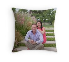 Dr Christian Jessen and Dr Dawn Harper at the RHS Hampton Court Palace flower show 2012. Presenters from the Embarrassing bodies tv programme. Throw Pillow