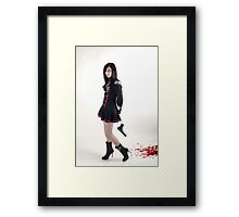 "Black Widow - ""who me?"" Framed Print"