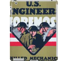 US Engineers Foremost Skilled mechanics technical specialists iPad Case/Skin