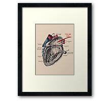 You Are Here <3 Framed Print