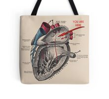 You Are Here <3 Tote Bag