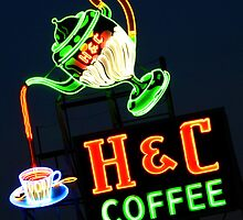 Neon H & C Coffee by ThinkPics