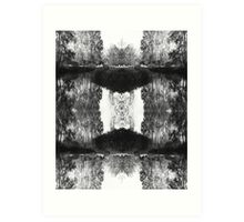 Solitary Twins - Black and White Print Art Print