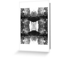 Solitary Twins - Black and White Print Greeting Card