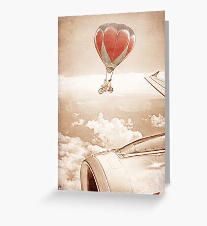 Wednesday Dream - Chasing Planes Greeting Card
