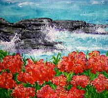 Pinks at Polzeath No.2 by KathBrabbins
