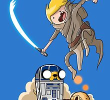 FINN SKYWALKER AND JAKE2D2. by Gerkyart