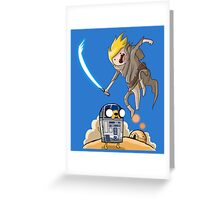 FINN SKYWALKER AND JAKE2D2. Greeting Card