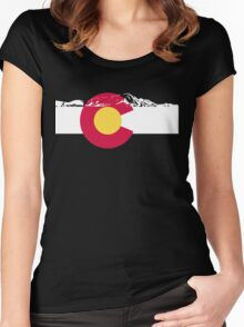 Colorado mountains Women's Fitted Scoop T-Shirt