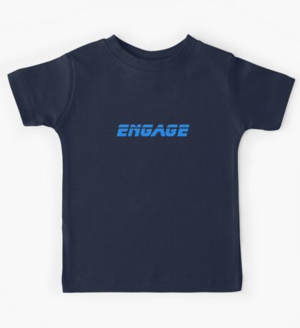 Engage - Dock The Space Shuttle T-Shirt Kids Tee