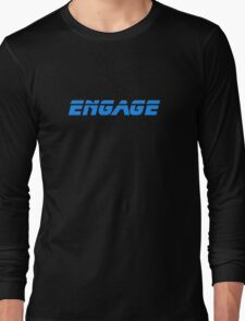 Engage - Dock The Space Shuttle T-Shirt Long Sleeve T-Shirt