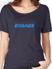 Engage - Dock The Space Shuttle T-Shirt Women's Relaxed Fit T-Shirt