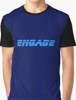 Engage - Dock The Space Shuttle T-Shirt Graphic T-Shirt
