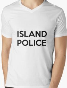 Island Police Mens V-Neck T-Shirt