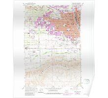 USGS Topo Map Washington State WA Yakima West 244821 1958 24000 Poster