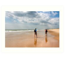 No Particular Place To Be - Beach in the Hamptons Art Print