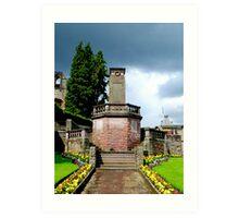 War Memorial, Jedburgh, Scotland Art Print