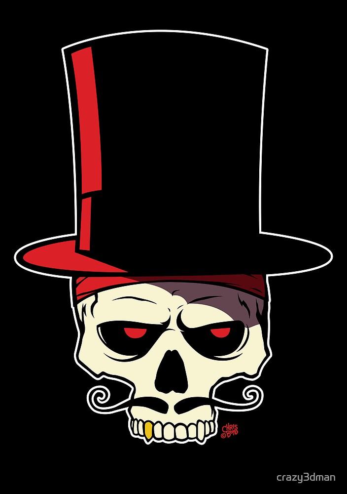 Stache Skull by crazy3dman