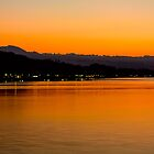 Sunset on Lake Bolsena by Marco Borzacconi