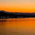 Sunset on Lake Bolsena by Marco Borzacconi