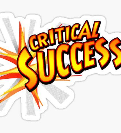 Critical Success Sticker