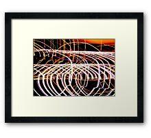 Lightpaint Abstract Framed Print