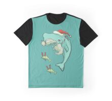 Christmas Whale Graphic T-Shirt