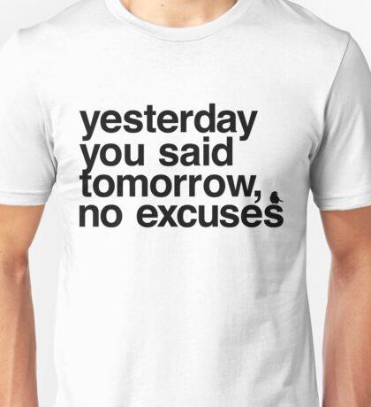 Yesterday - Helvetica Black Unisex T-Shirt