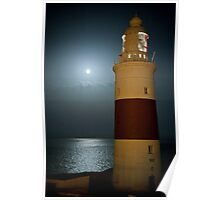 Full moon and light house. Poster
