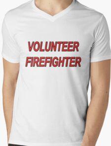 VOLUNTEER FIREFIGHTER red sticker Mens V-Neck T-Shirt