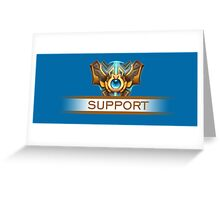 Support Badge Greeting Card