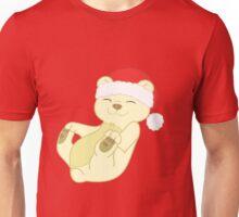 Christmas Kermode Bear with Red Santa Hat Unisex T-Shirt