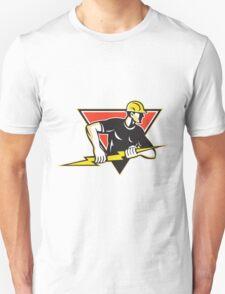 Electrician Lightning Bolt Retro Unisex T-Shirt